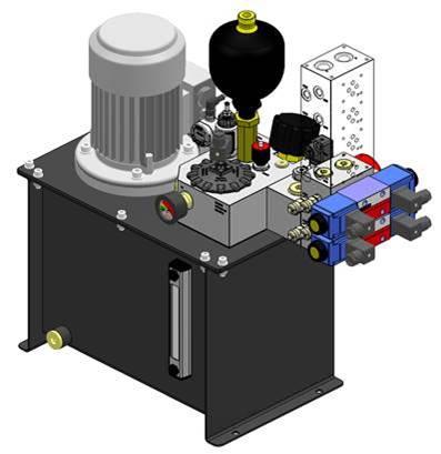 hydraulic power unit stencil